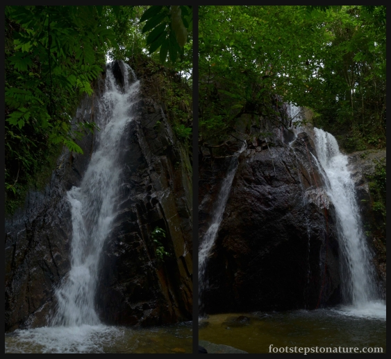 Two major falls plus one miniature make it a triplet waterfall