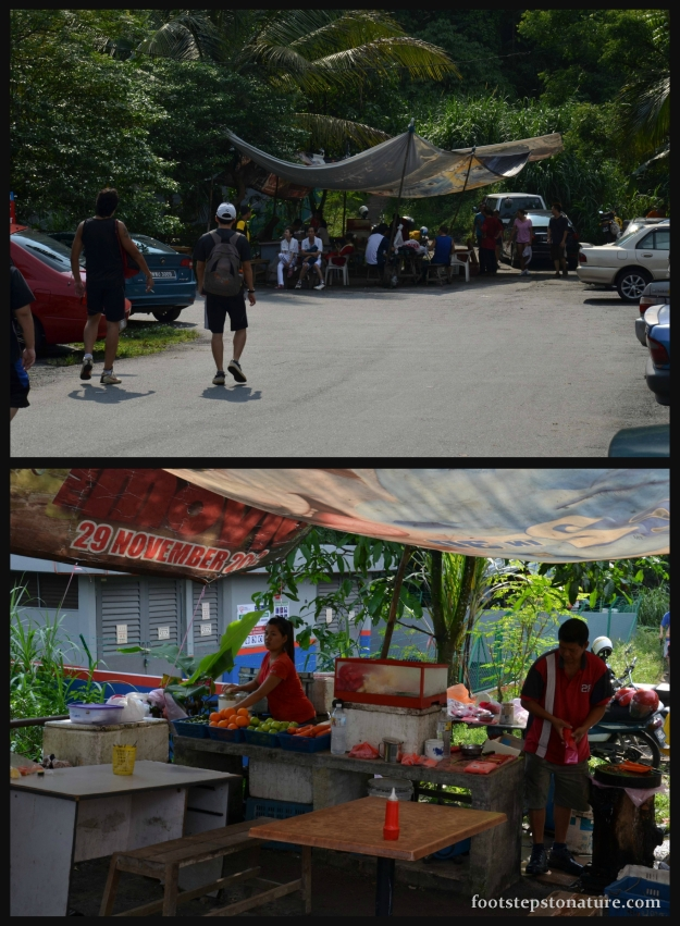 We began our hike from Jalan Awana 23 where the entrance was greeted by a fruit juice store. Boost your energy levels before a hike or quench your thirst after, have it your way.