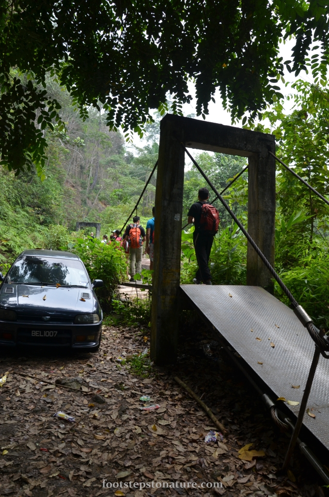 The trekking begins with two bridge crossings around 5 minutes apart between the two.