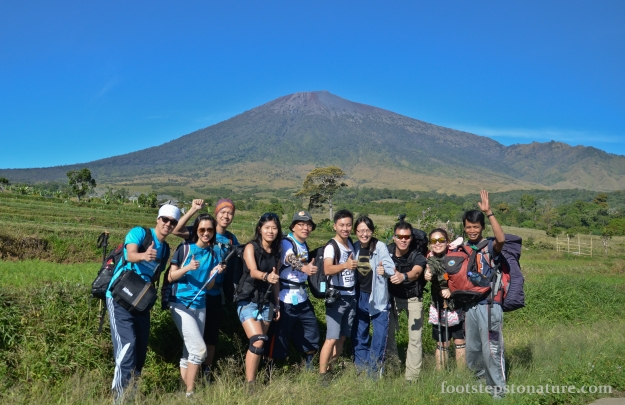 Rinjani Expedition Team for the trip and our guide standing rightmost