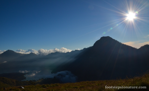 5.20pm – View at basecamp. Enjoy the sunset colours as it descends behind the mountain